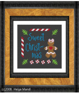 Gingerbread Girl christmas holiday PDF cross st... - $5.00