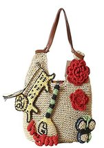 Bohemian Summer Beach Handbag Crochet Flower Straw Shoulder Bag