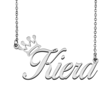 Kiera Name Necklace Tag with Crown for Best Friends Birthday Party Gift - $15.99