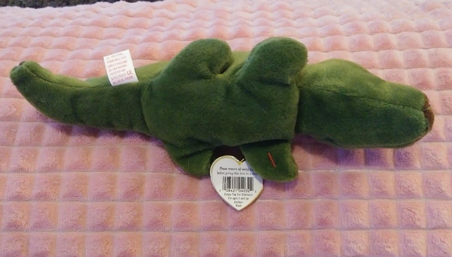 6912acfa9c2 Ty Ally The Alligator Bean Bag Toy Beanie Baby Retired Original Collections