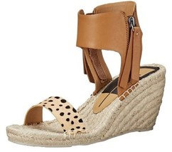 Women's Shoes Dolce Vita GISELE Espadrille Platform Wedge Sandal Leather Leopard - $62.99