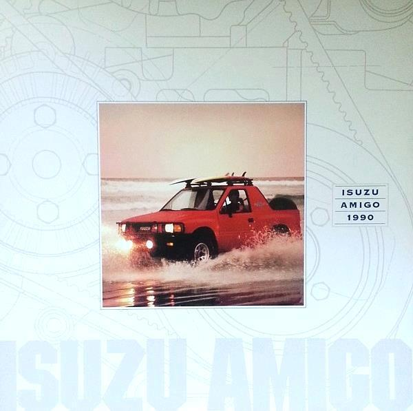 1990 Isuzu AMIGO sales brochure catalog US 90 S XS