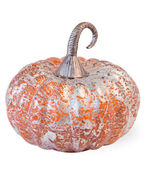 Orange Foil Melon Glass Pumpkin by Boston International - $22.72