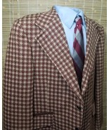 RARE! Vintage Johnny Carson Mens Houndstooth Wool Tweed 2 buttons Blazer... - $98.00