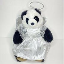 Build A Bear Panda Plush White Angel Wings Halo Costume BAB Stuffed Anim... - $29.69