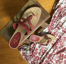 A2 By Aerosoles Red Dress Sandals - $14.84