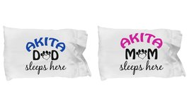 Akita Mom and Dad Pillow Case (Couple) - $19.55