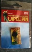 Operation Iraqi Freedom Lapel Pin. AAFES. Liberty. New in plastic! - $4.49