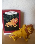 Disney 1994 Mufasa and Simba Hallmark Christmas Ornament  - $25.00