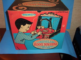REMCO 1950's Coney Island Penny Arcade Machine w/ Original Box & Game Pi... - $179.99