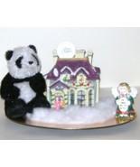 Christmas Ceramic Lighted Ballroom Ceramic Angel Plush Webkinz Panda 87 - $15.00