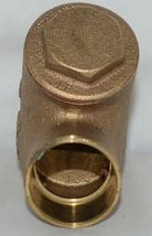 Legend 105 406 Bronze Y Pattern Check Valve Lead Free 1 1/4 Inch image 3