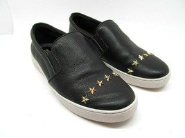 Michael Kors Womens Black Leather Gold Stars Loafers Sneakers Size US 7 M - $37.83