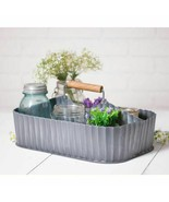Antiqued Tin CADDY with Middle Divider and handle - $41.73