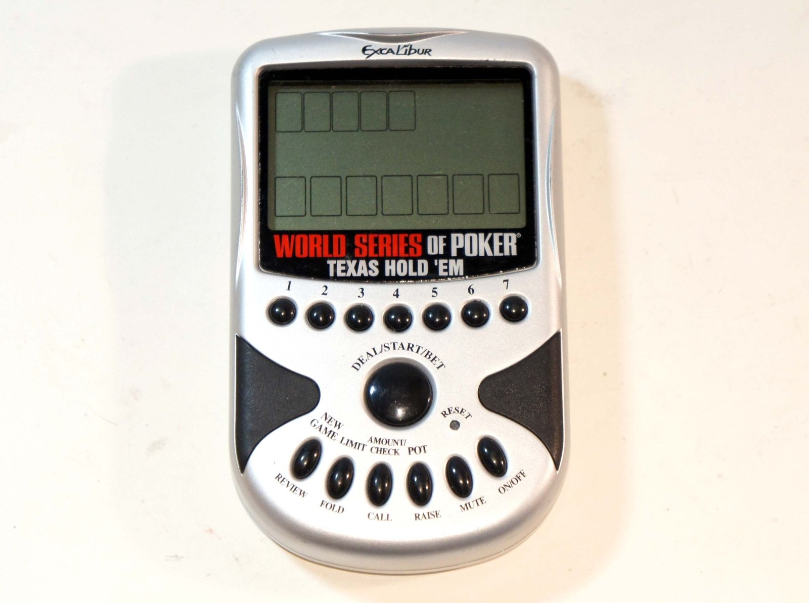 World Series of Poker Electronic Texas Hold 'em Poker Handheld, by Excalibur