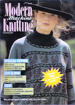 Modern Machine Knitting Sept 1989 Magazine Acorn Sweater, Saddle Shoulde... - $5.69