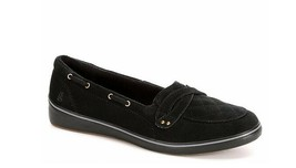 Grasshoppers Women's EH58290 Windham Suede Boat Shoe, Black Size 7 M - $24.74
