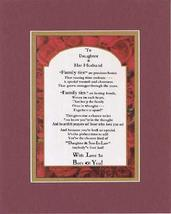 Touching and Heartfelt Poem for Extended Family Members - To Daughter an... - $15.79