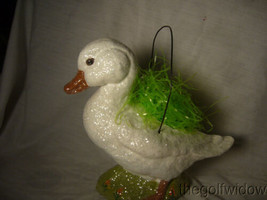 Handmade Easter White Duck by Christopher James in Paper Mache image 2