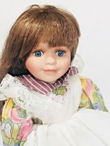 """Collector's 12"""" Porcelain Doll Brunette Hair with Blue Eyes - $27.72"""
