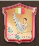 Tokyo 1964 Olympic Games Japan gymnastics parallel bars flag of Italy pin badge - $4.23