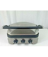 Cuisinart 5-in-1 Griddler, Silver With Silver/Black Dials GR-4N - EXCELL... - $24.75
