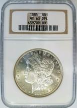 1885 Silver Morgan Dollar NGC MS 63 DPL Deep Mirrors PL DMPL Graded Coin - $314.99