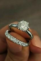 Certified 2.95Ct Round White Diamond Engagement Wedding Ring in 14K Whit... - $295.77