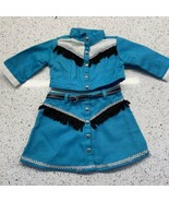 Pleasant Company Doll Clothes Halloween Costume Cowgirl Rootin Tootin Blue 2 Pc - $26.50