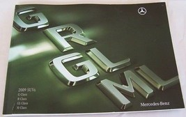 2009 Mercedes GL ML R G Owners Sales Brochure SUV Parts Service - $39.99