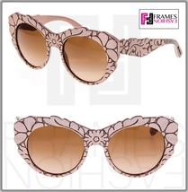 Dolce & Gabbana Mamas Brocade Powder Brown Mesh Texture Sunglasses DG426... - $222.75
