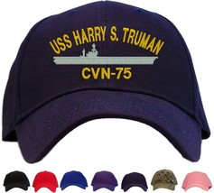 USS Harry S. Truman CVN-75 Embroidered Baseball Cap Available in 7 Color... - $25.95