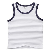 Sooxiwood Little Boys Tank Tops Solid Vest Summer Size 12M White - $12.18