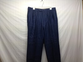 Paul Stuart Men's Navy Blue Linen Slacks Sz 35 Made in Italy
