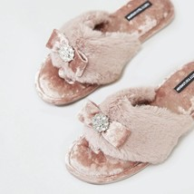Pretty You London Womens Toe Post Amelie Pink - Large - $55.00