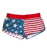 USA Distressed Flag American Pride Patriot Summer Womens Athletic Shorts... - $18.91