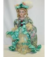"Vintage 16"" Porcelain Doll – Blond Hair and Blue Eyes Real Eyelashes - $19.79"