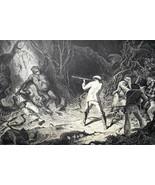 HUNTING Gorilla in Jungle  - 1878 Fine Quality Print - $40.46