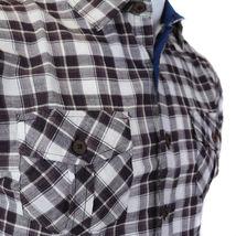 Overdrive Men's Cotton Plaid Button Up Casual Short Sleeve Slim Fit Dress Shirt image 14