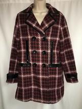 Express Peacoat Womens Medium Black Multi Color Jacket Plaid NWT $198 - $116.10