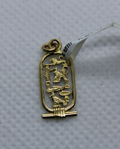 Egyptian Gorgeous Fancy Design Cleopatra Cartouch Pendant 18K Yellow Gold 0.83G - $169.75