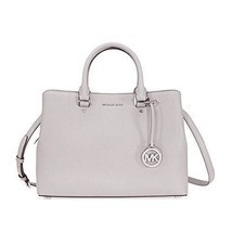 Michael Kors Bag Handbag For Women Medium Leather Pearl Grey 100 % Authentic - $261.23