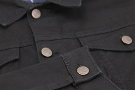 Men's Classic Button Up Removable Hood Slim Fit Stretch Denim Jean Jacket image 8