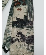 Endangered Species Men's Wolves Wildlife Animals Tie Vintage Wolf Pack F... - $9.99