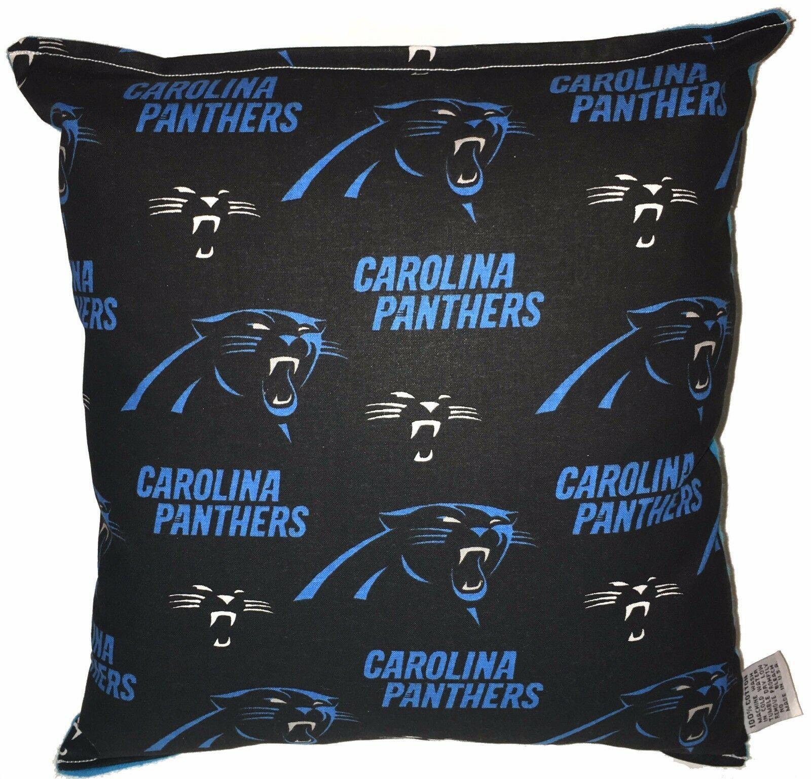 Panthers Pillow Carolina NFL Pillow Handmade Made In USA