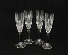 Mikasa Crystal Old Dublin Champagne Flutes Glasses ~ Set of 4 - $45.00