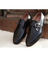 Genuine Leather Handmade Magnificiant Black Color Single Buckle Strap Mo... - $139.90+