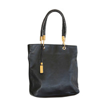 Michael Kors Skorpios Black Tote Bag w/ Braided Handle - $297.00