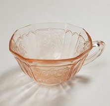MAYFAIR OPEN ROSE CUP PINK DEPRESSION HOCKING GLASS, 7 AVAILABLE - $12.95