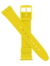 "Swatch Replacement 17/20mm Large PVC Yellow 7 1/4 in. Watch Band ""22048"" - $9.95"